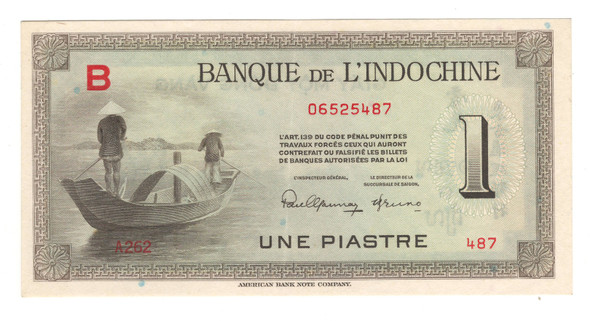 Indochina: 1945 Piastre Banknote