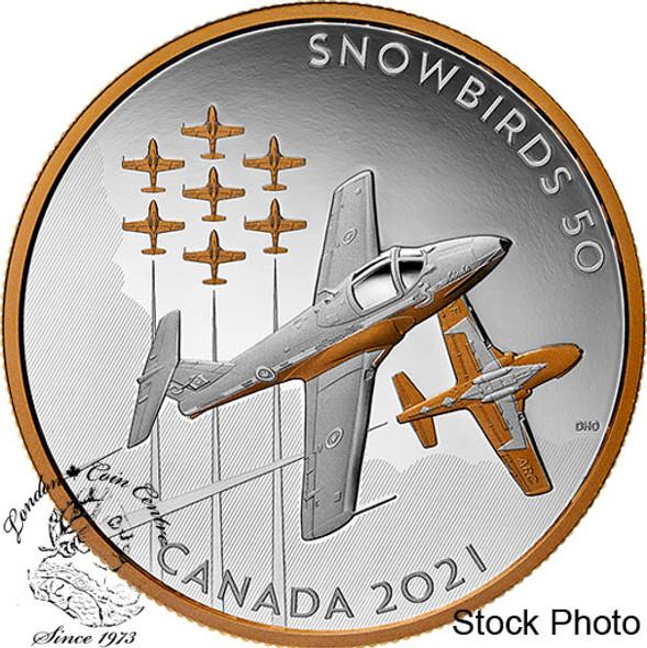 Canada: 2021 $50 The Snowbirds: A Canadian Legacy 5 oz. Pure Silver Coin