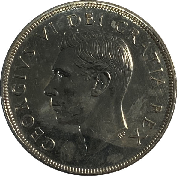 Canada: 1948 Silver Dollar Cleaned