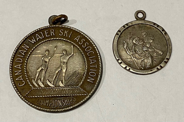 Canadian Water Ski Association 1956 + Religious Medal