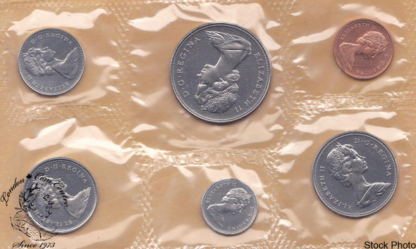 Canada: 1968 Proof Like / Uncirculated Coin Set with Extra Water Lines Dollar