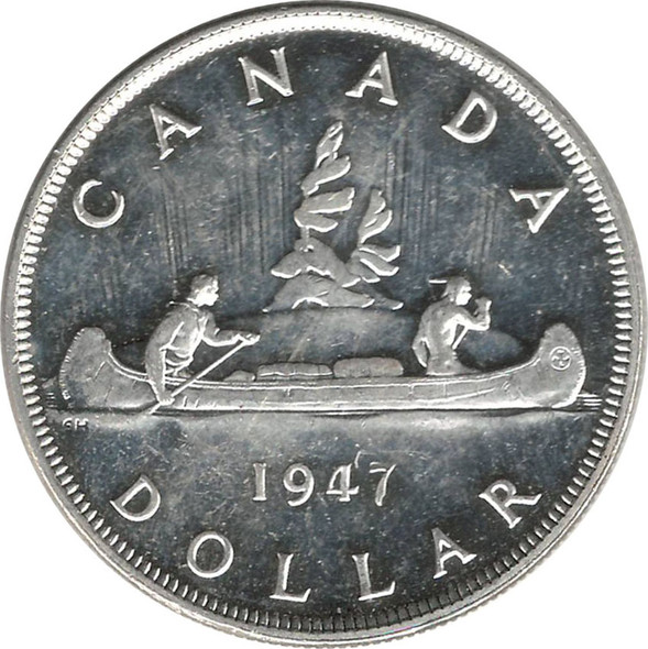 Canada: 1947 $1 P7 DOT AU55