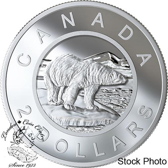Canada: 2019 $2 Multilayered Polar Bear 3.5 oz Pure Silver Coin EXTREMELY RARE!