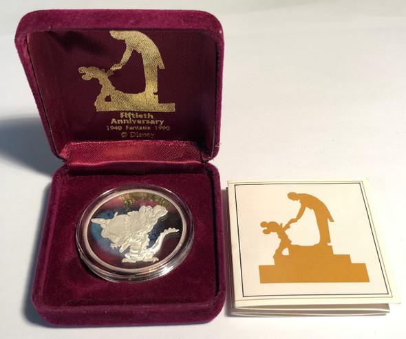 United States: 1990 Disney's Fantasia 50th Anniversary Alligator & Hippo Pure Silver Coin