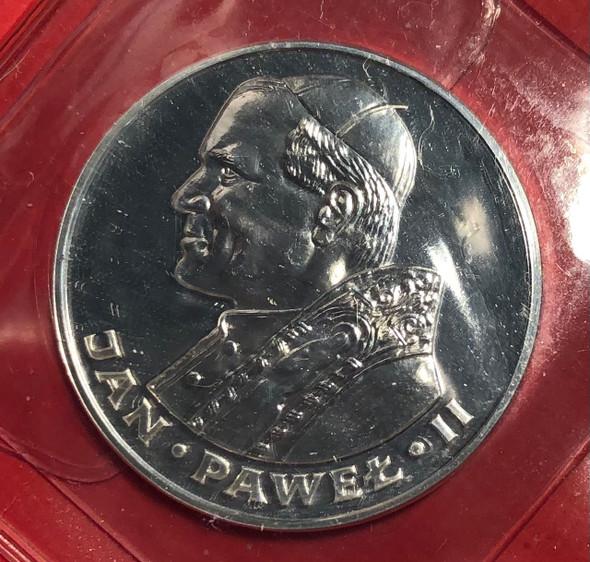 Poland: 1982 100 Zloty John Paul II Coin *Ink on Holder*