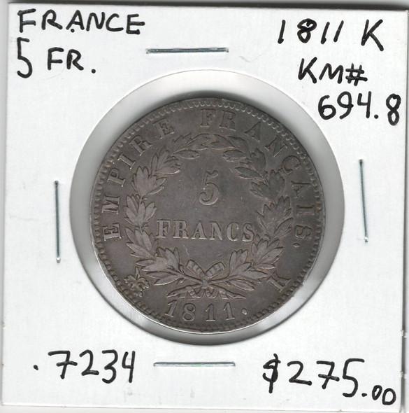 France: 1811K 5 Francs