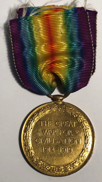 Allied Victory Medal - Canadian Infantry WWI 1914-1919 CPL E.V. Loney. Killed in Action.