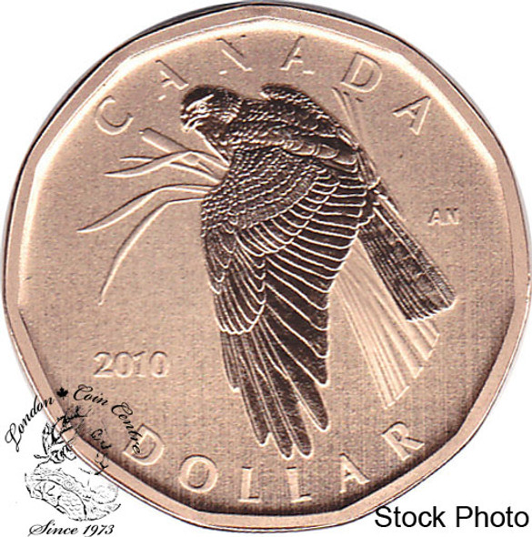 Canada: 2010 $1 Northern Harrier Loonie Specimen