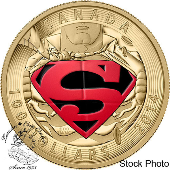 Canada: 2014 $100 Iconic Superman Comic Book Covers: The Adventures of Superman #596 from 2001 14-Karat Gold Coin