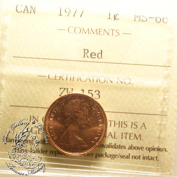 Canada: 1977 1 Cent ICCS MS66  Red Coin nr 4