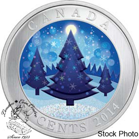 Canada: 2014 50 Cent Lenticular Christmas Tree Coin