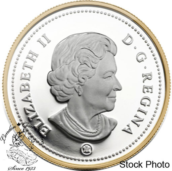 Canada: 2009 $1 100th Anniversary of Flight in Canada Gold Plated Silver Dollar