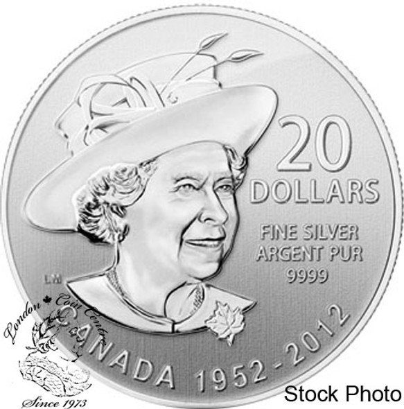 Canada: 2012 $20 The Queen's Diamond Jubilee Pure Silver Coin