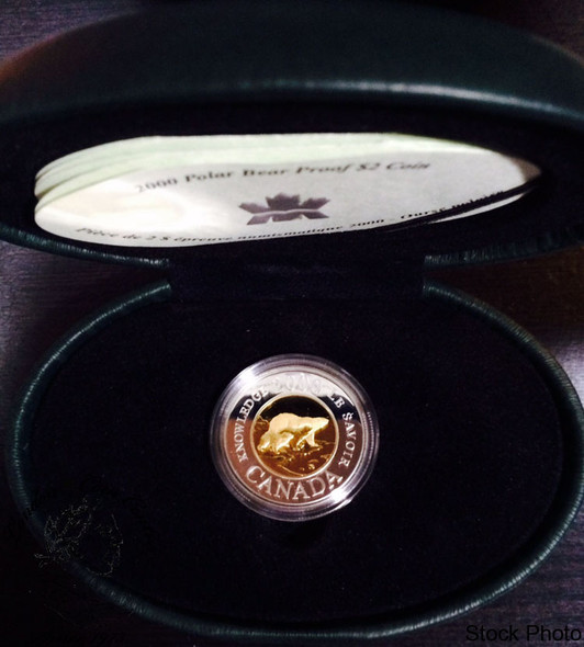 Canada: 2000 $2 Millennium Knowledge Silver Coin in Clamshell Case