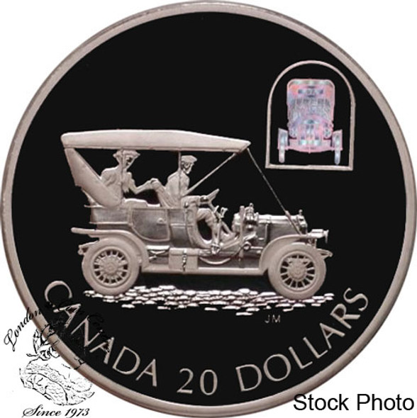 """Canada: 2001 $20 The Russell """"Light Four"""" Silver Hologram Coin"""
