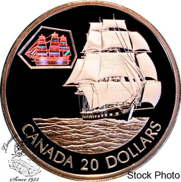Canada: 2001 $20 The Marco Polo Silver Hologram Coin