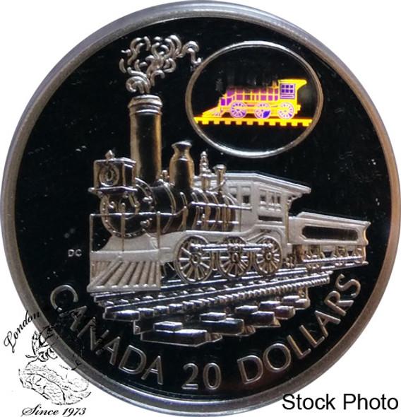 Canada: 2001 $20 The Scotia Train Silver Hologram Coin