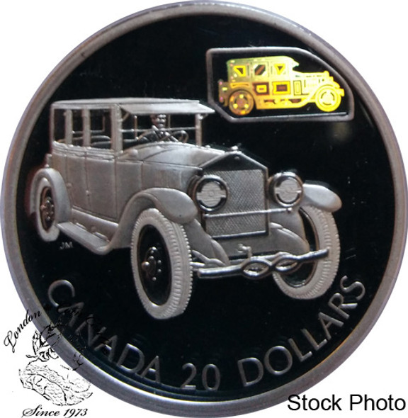 Canada: 2002 $20 The Gray-Dort Silver Hologram Coin