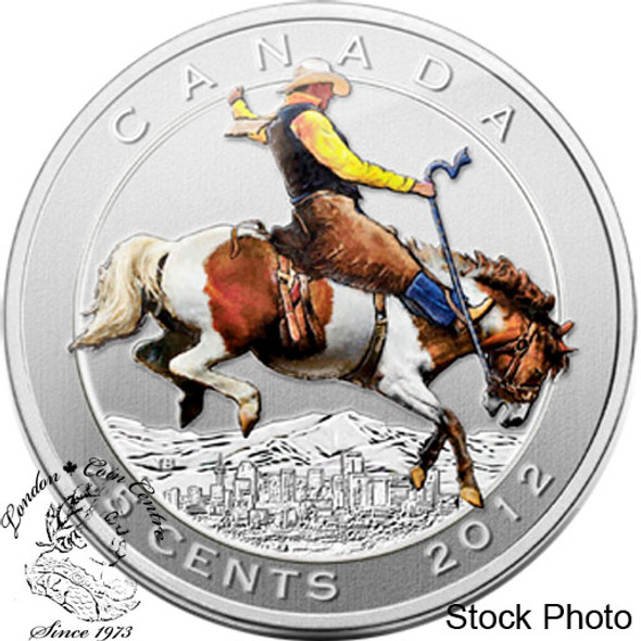 Canada: 2012 25 Cents Calgary Stampede in Folder with Stamps