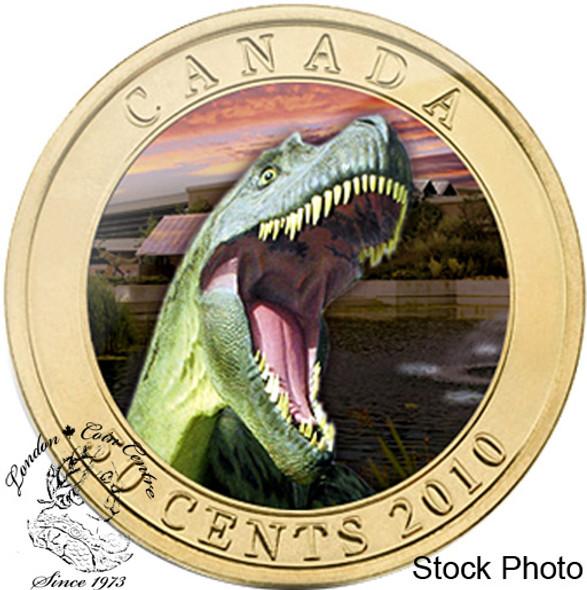 Canada: 2010 50 Cents Albertosaurus Dinosaur Lenticular Coin