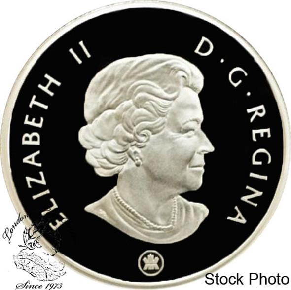Canada: 2007 $4 Parasaurolophus Dinosaur Skeleton Pure Silver Coin