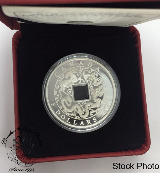 Canada: 2007 $8 Pure Silver Chinese Square Hole Coin