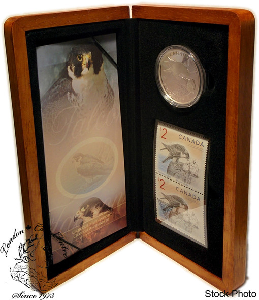 Canada: 2006 $5 Limited-Edition Stamp & Coin Set. The Peregrine Falcon & Nestlings
