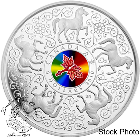 Canada: 2010 $8 Maple of Strength Silver Hologram Coin