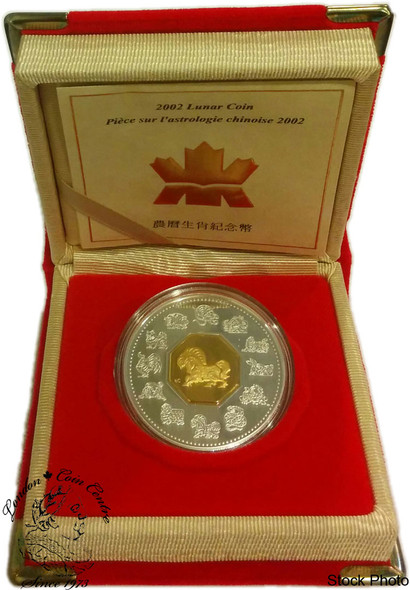 Canada: 2002 $15 Year of the Horse Lunar Silver Coin