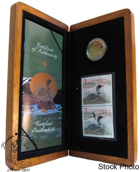 Canada: 2004 $1 Limited-Edition Stamp & Coin Set. Elusive Loon