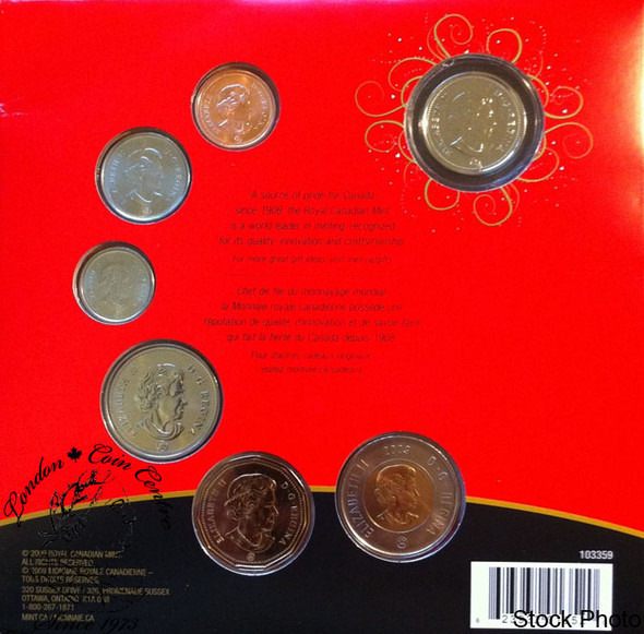 Canada: 2009 Holiday Gift Set with Santa Coloured Quarter