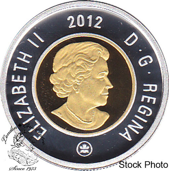 Canada: 2012 $2 Silver with Gold Plating Proof Coin