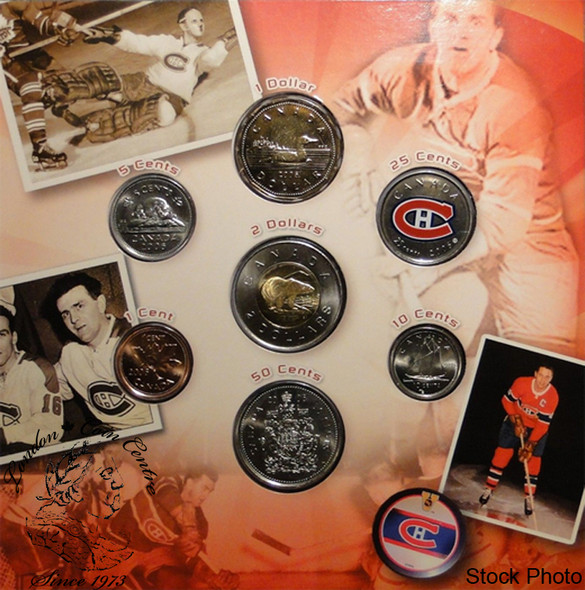Canada: 2006 Montreal Canadiens Logo Coin Set with Coloured 25 Cent