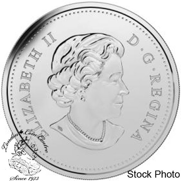 Canada: 2015 $1 The 50th Anniversary of the Canadian Flag BU Silver Dollar Coin