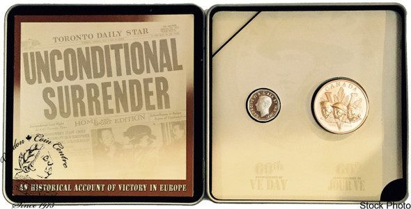 Canada: 2005 5 Cent VE Day Coin and Medallion Set