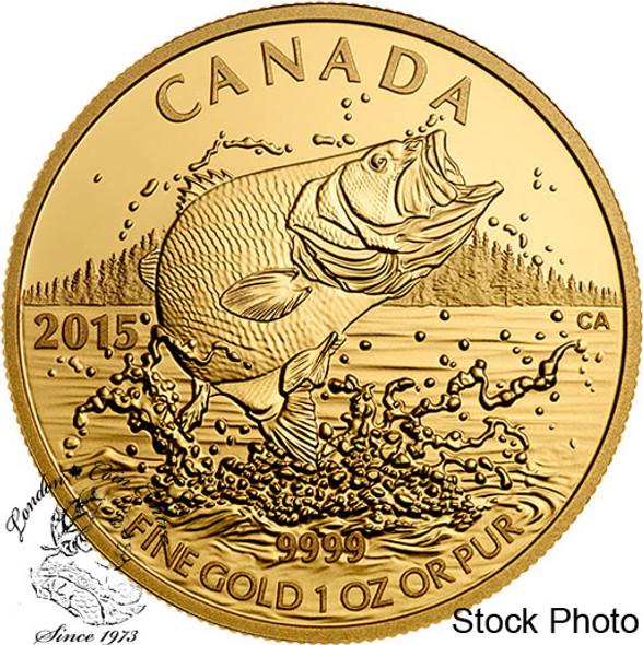 Canada: 2015 $200 North American Sportfish: Largemouth Bass Gold Coin