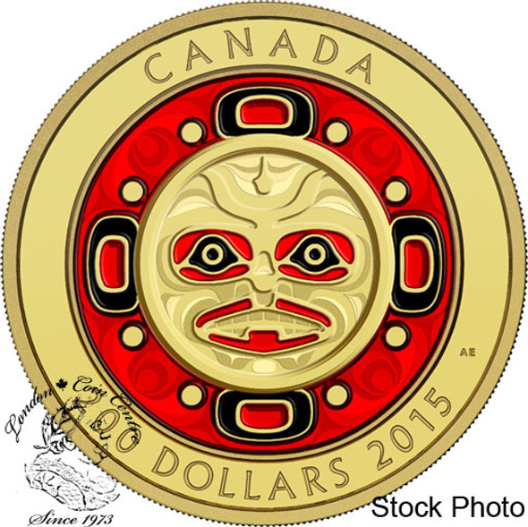 Canada: 2015 $200 Singing Moon Mask Gold Coin