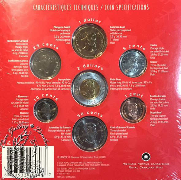 Canada: 2006 Quebec Carnival Coin Gift Set with Coloured 25 Cent