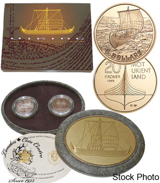 Canada: 1999 $5 The Viking Settlement & Norway Coin Set