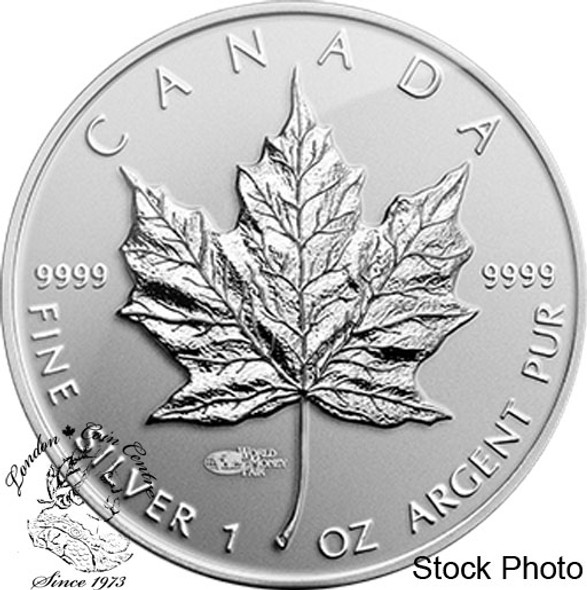 Canada: 2014 $5 Silver Maple Leaf World Money Fair Privy Mark Silver Coin