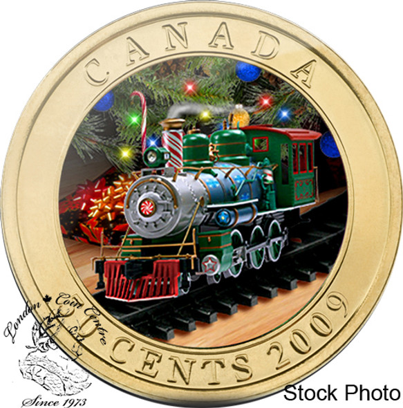 Canada: 2009 50 Cent Holiday Toy Train Coin