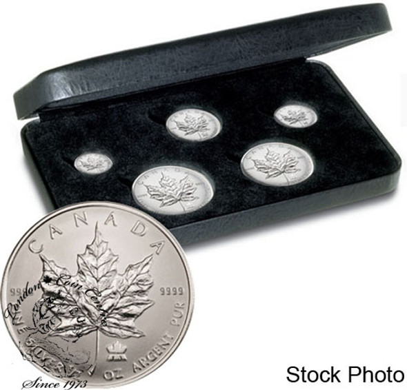 Canada: 2004 Silver Maple Leaf Privy 5 Coin Fractional Set