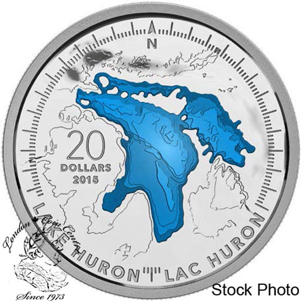 Canada: 2014 - 2015 $20 Great Lakes Silver Coin Set in Wooden Display