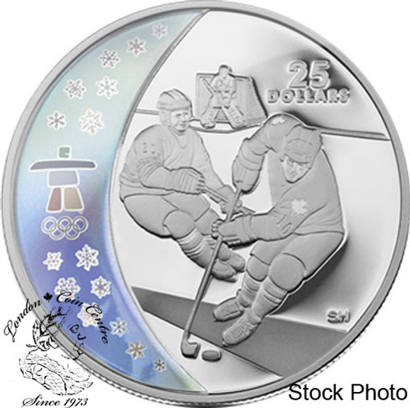 Canada: 2007 $25 Olympic Ice Hockey Silver Hologram Coin