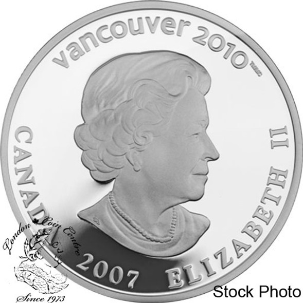 Canada: 2007 $25 Olympic Curling Silver Hologram Coin