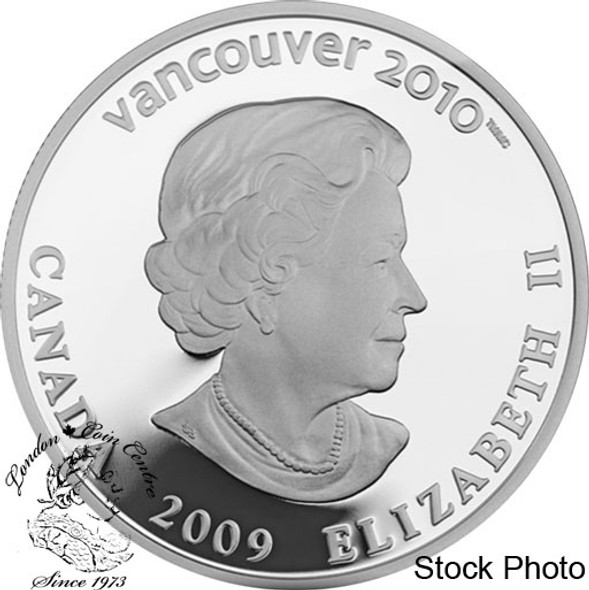 Canada: 2009 $25 Olympic Cross Country Silver Hologram Coin