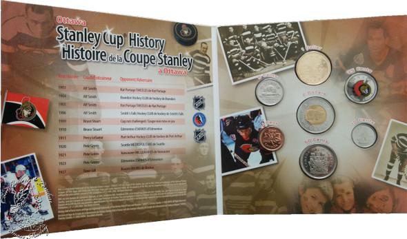 Canada: 2006 Ottawa Senators Logo Coin Set with Coloured 25 Cent