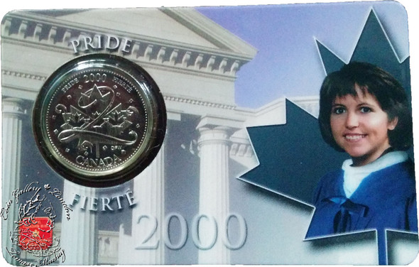 Canada: 2000 25 Cent January Pride Coin and Collector Card