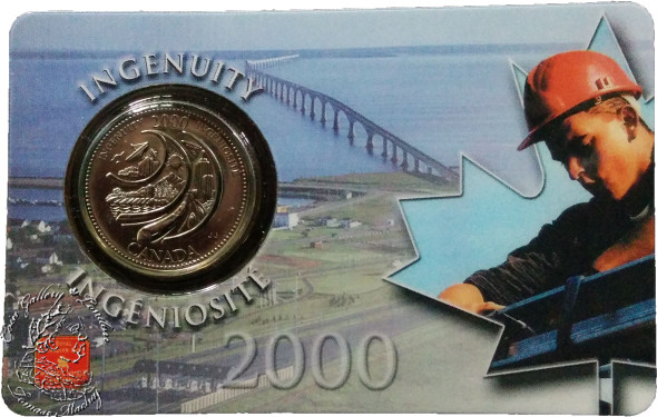 Canada: 2000 25 Cent February Ingenuity Coin and Collector Card