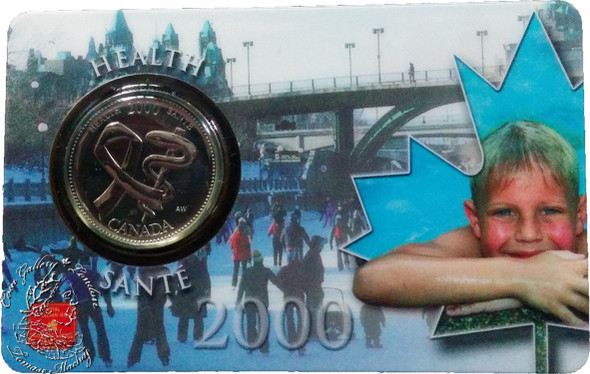 Canada: 2000 25 Cent April Health Coin and Collector Card